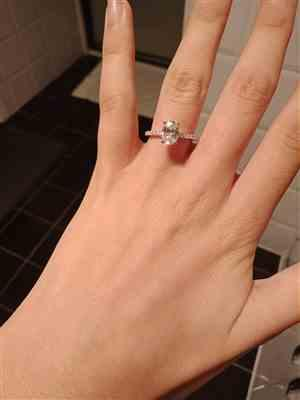 Irene Georgiou verified customer review of 1.25 ctw Oval Accented Ring
