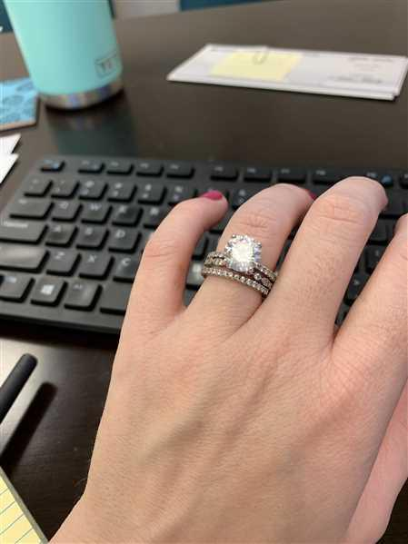 Jenn verified customer review of 3.25 ctw Round Accented Solitaire Set