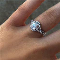 Tiger Gems 2 ctw Twisted Oval Halo Ring - 40% Final Sale Review