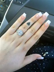 Ellasandra S. verified customer review of 2 ctw Twisted Oval Halo Three Band Set