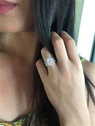Donna H verified customer review of 2 ctw Twisted Oval Halo Three Band Set