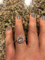 Jennifer L verified customer review of 2.5 ctw Pear Halo Ring