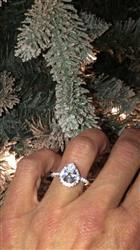 Tracy C verified customer review of 2.5 ctw Pear Halo Ring