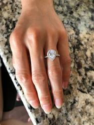 Felicia M verified customer review of 2.5 ctw Pear Halo Ring