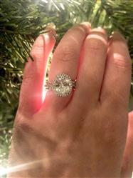 Michelle  verified customer review of 3.25 ctw Oval Halo Ring