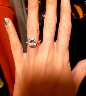 Raechel Fields verified customer review of 3.25 ctw Oval Halo Ring