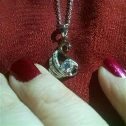 Kya S verified customer review of 1/2 ct Dainty Swan Necklace - 60% Final Sale