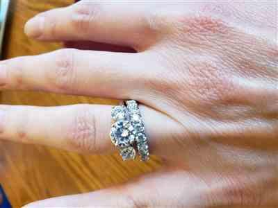 Erin W. verified customer review of 2 ctw Three Stone Ring