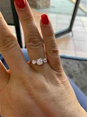 Cynthia M. verified customer review of 2 ctw Three Stone Ring