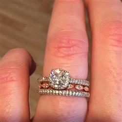Amy C verified customer review of 1 ctw Princess Halo Ring