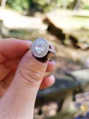 Nic verified customer review of 1 ctw Oval Double Halo Ring