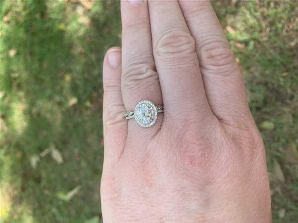 Jamie R  verified customer review of 1 ctw Oval Double Halo Ring