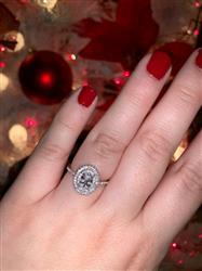 Allison T verified customer review of 1 ctw Oval Double Halo Ring