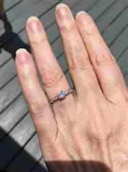 Emily K. verified customer review of 3/4 ctw Wide Art Deco Solitaire Ring