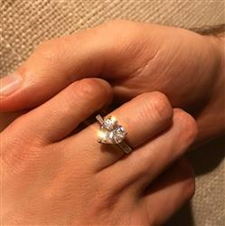 Rebecca V verified customer review of 4 ctw Heart Accented Ring