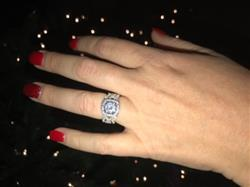 Janelle H. verified customer review of 2.25 ctw Twisted Round Halo 3 Band Set - 40% Final Sale, Sz 5 1/4 or 7 3/4
