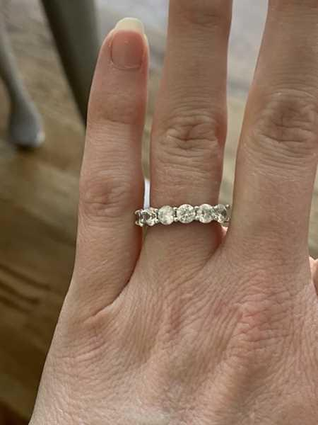 Frances McCarty verified customer review of 2 ctw Half Eternity Band