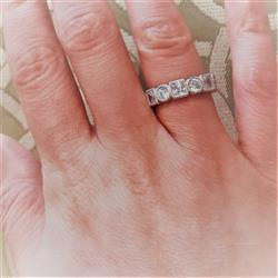 Francesca N verified customer review of 4 ctw Art Deco Princess Eternity Band, Sz 5 or 9