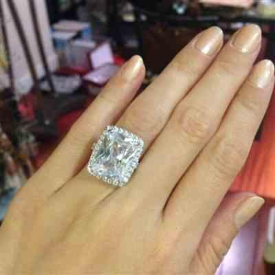 Patty D verified customer review of 15 ctw Radiant Halo Ring - Final Sale