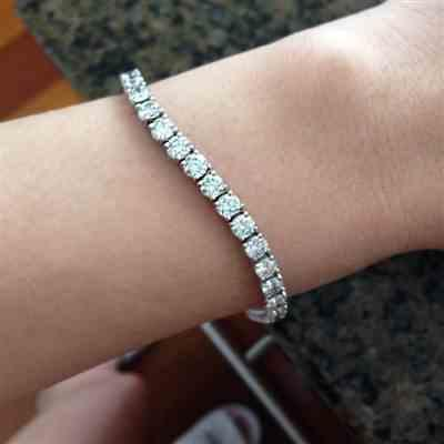 Vanessa T verified customer review of 10 ctw Eternity Tennis Bracelet - 40% Final Sale