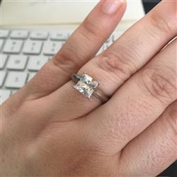 Zennia B. verified customer review of 2 ct Princess Wide Solitaire Ring