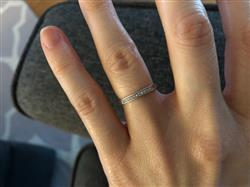 Kaitie K. verified customer review of Small Channel Half Eternity Band