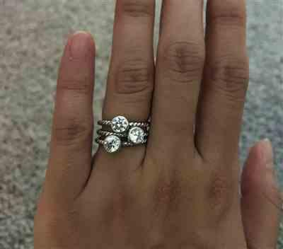 YC Liu verified customer review of .4 ct Bezel Infinity Ring, 40% Final Sale