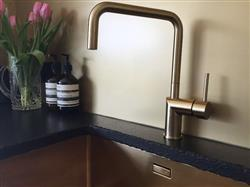 Tish J. verified customer review of Nivito RH 340 Brushed Brass/Gold, kitchen mixer tap