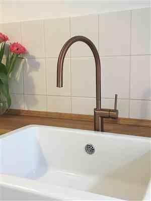 Sara K. verified customer review of Nivito RH 150 Brushed Copper, kitchen mixer tap