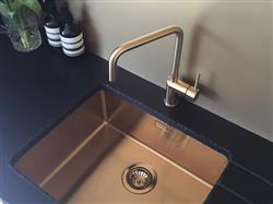 Tish J. verified customer review of Alveus Monarch Quadrix 50 Gold, flush/slim/undermount sink