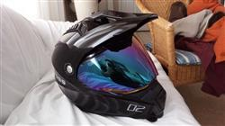 Daniel A. verified customer review of 601 D2 Dual Sport Helmet Gloss White Diamond