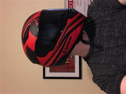 Jeff M. verified customer review of 988 Moto-1 Full Face Matte Black/Red Synchro Helmet