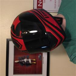 Jeff M. verified customer review of 988 Moto-1 Gloss Red/ Black Full Face Katana Helmet