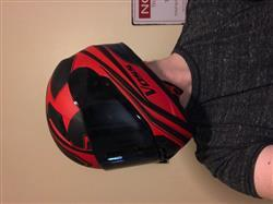 Jeff M. verified customer review of 988 Moto-1 Full Face Red and Blue America Helmet