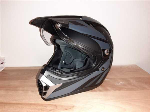 Voss Helmets 600 Dually Dual Sport Helmet - Two Tone Reaction Review
