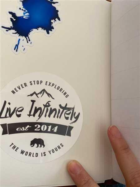 Heather Hathaway verified customer review of Live Infinitely Sticker Pack