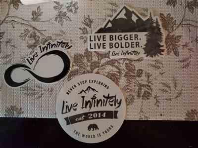 Melissa verified customer review of Live Infinitely Sticker Pack