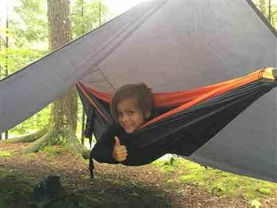 Fabien verified customer review of 75D Ripstop Polyester Hammock Rain Fly