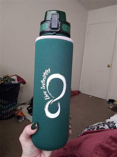 Jackie ripley verified customer review of 34oz Sports Water Bottle with Fruit Infuser, Time Markings & Shaker Ball