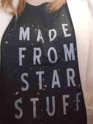 Amanda P. verified customer review of Women's Made From Star Stuff Astronomy Scoop Neck T-Shirt