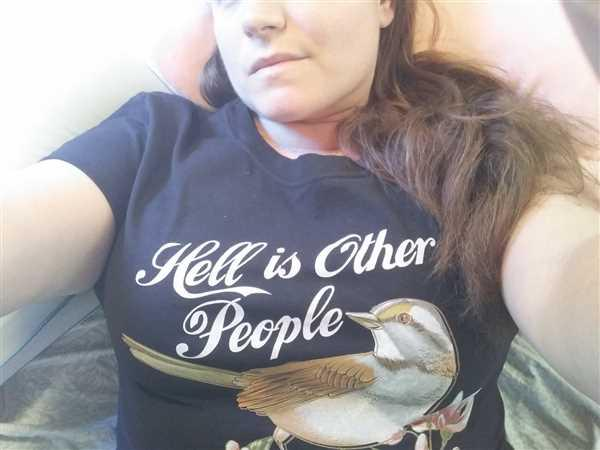 Boredwalk Women's Hell Is Other People T-Shirt Review