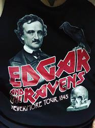 holly w. verified customer review of Unisex Edgar and the Ravens Nevermore Tour Tank Top Edgar Allan Poe