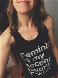 Julia Z. verified customer review of Unisex Feminist is My Second Favorite F Word Tank Top