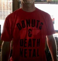 Christie A. verified customer review of Men's Donuts and Death Metal T-Shirt