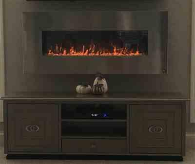 Karen verified customer review of Onyx Stainless 80026 50 Wall Mounted Electric Fireplace