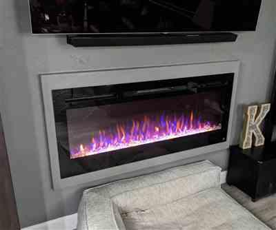 Carly Karlin verified customer review of Sideline 50 80004 50 Recessed Electric Fireplace