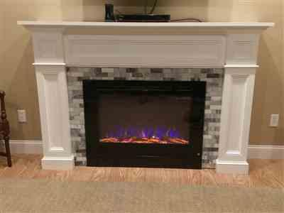Jamie Cuyler verified customer review of Forte 80006 40 Recessed Electric Fireplace