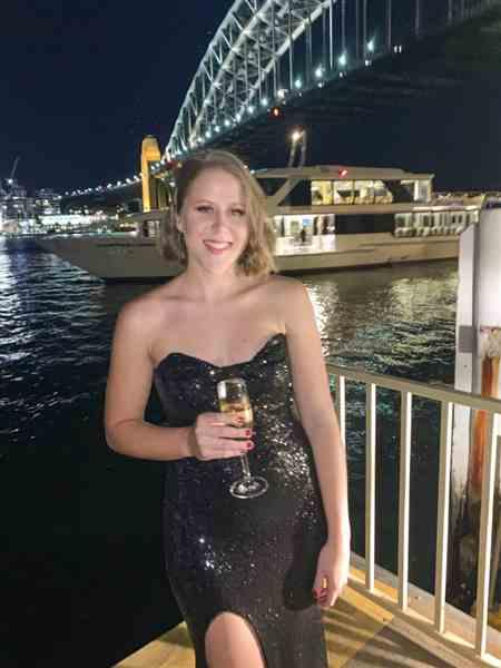Caitlin W. verified customer review of NOOKIE Valentina Gown (Black)- RRP $399 - L / 4-days