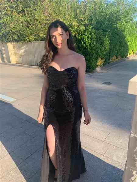 Angelina B. verified customer review of NOOKIE Valentina Gown (Black)- RRP $399 - L / 4-days