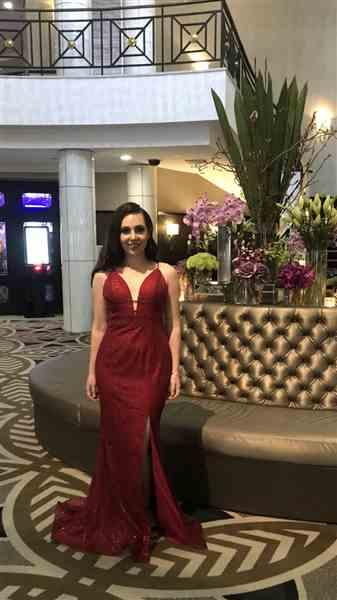 Caroline S. verified customer review of Elli Gown (Red) - RRP $460 - 6 / 4-days
